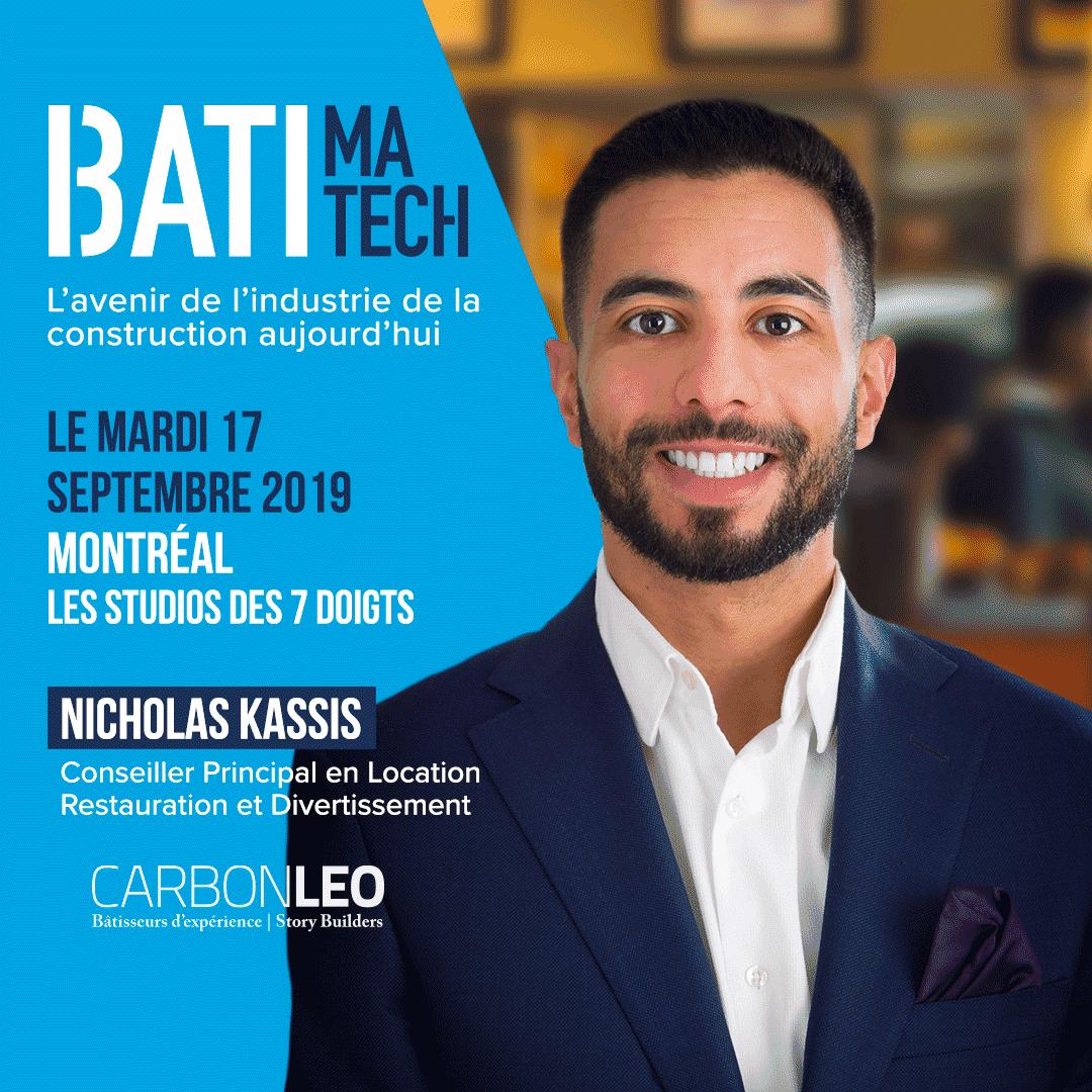 conferencier Batimatech - Nicholas Kassis
