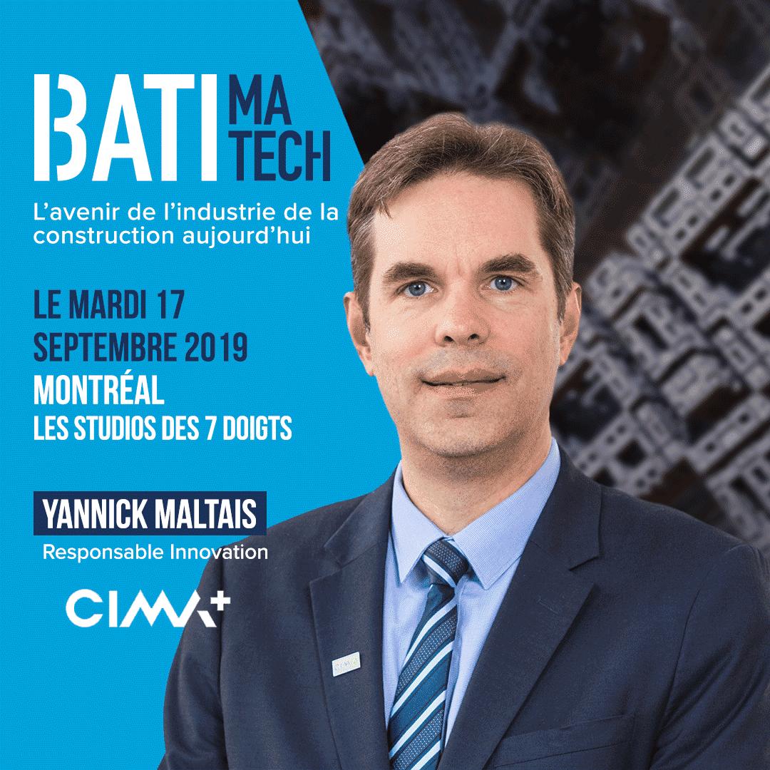 conferencier Batimatech - Yannick Maltais