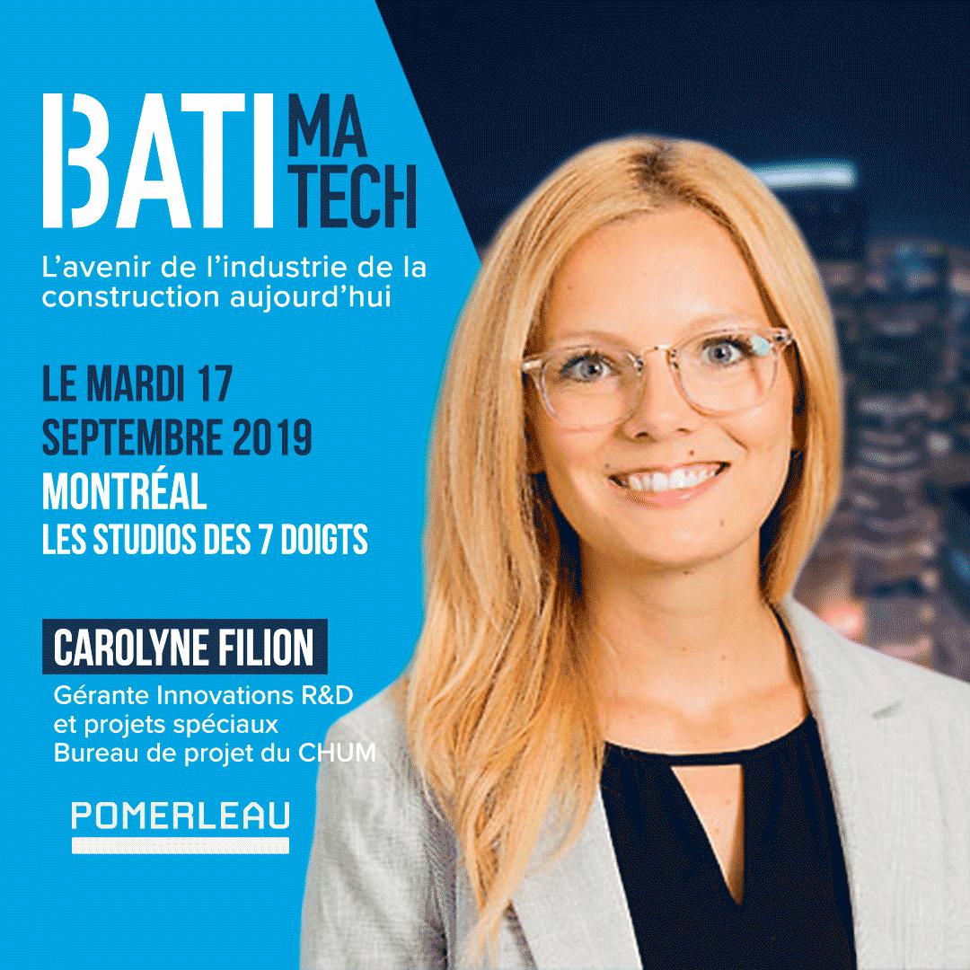 Conferencier Batimatech Carolyne Filion