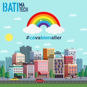 Batimatech ca va bien aller ville marche local cafe flane - arc en ciel