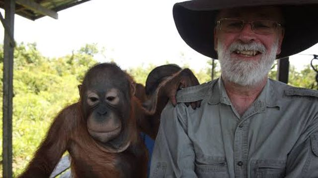 Terry Pratchett and Orangutan