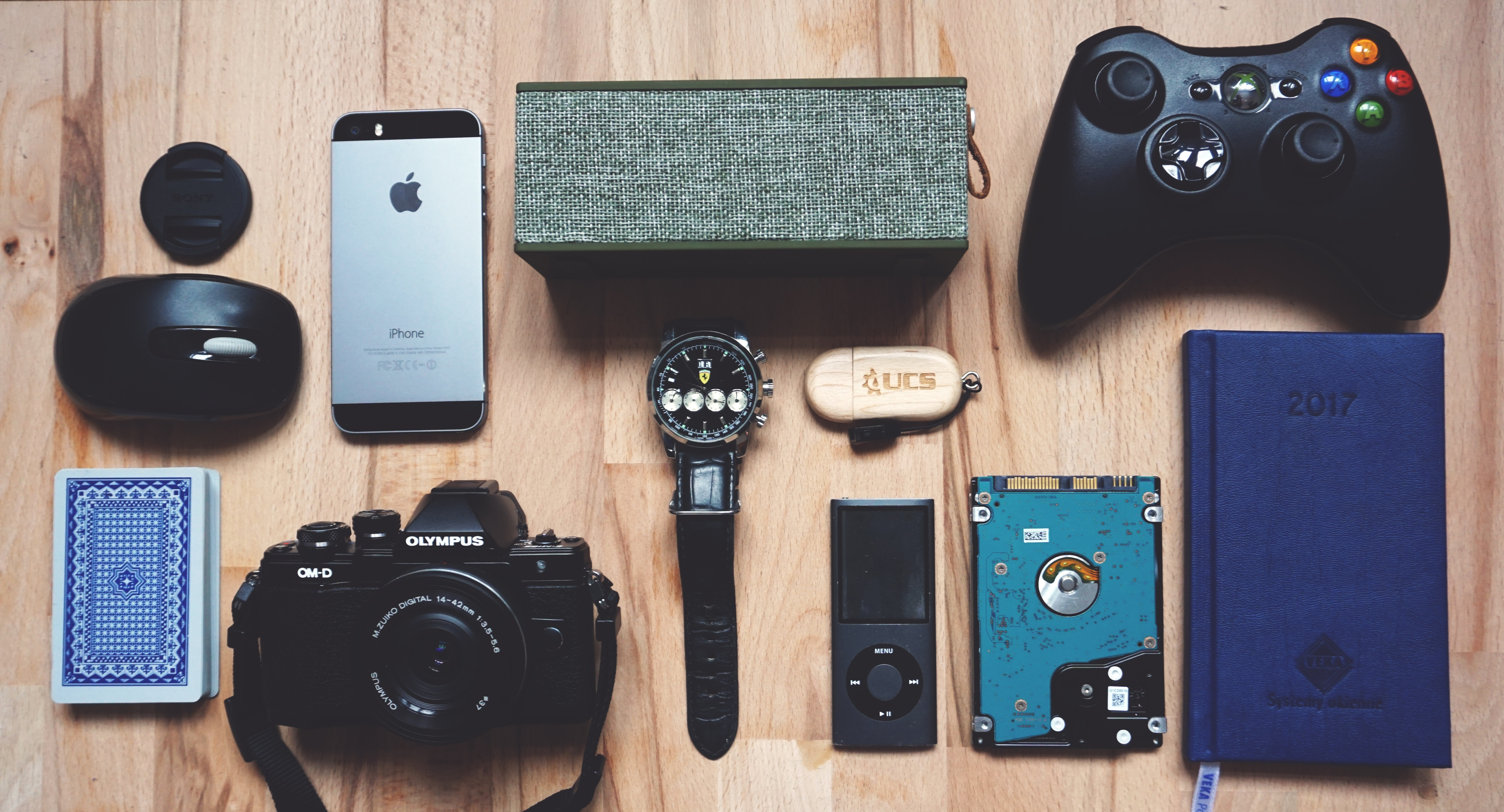 phone and gadget insurance flatlay