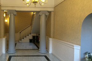 stately entrance hall