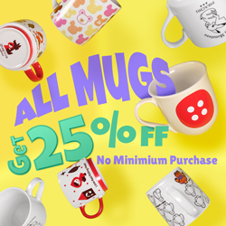 All Mugs 25% off Promotion
