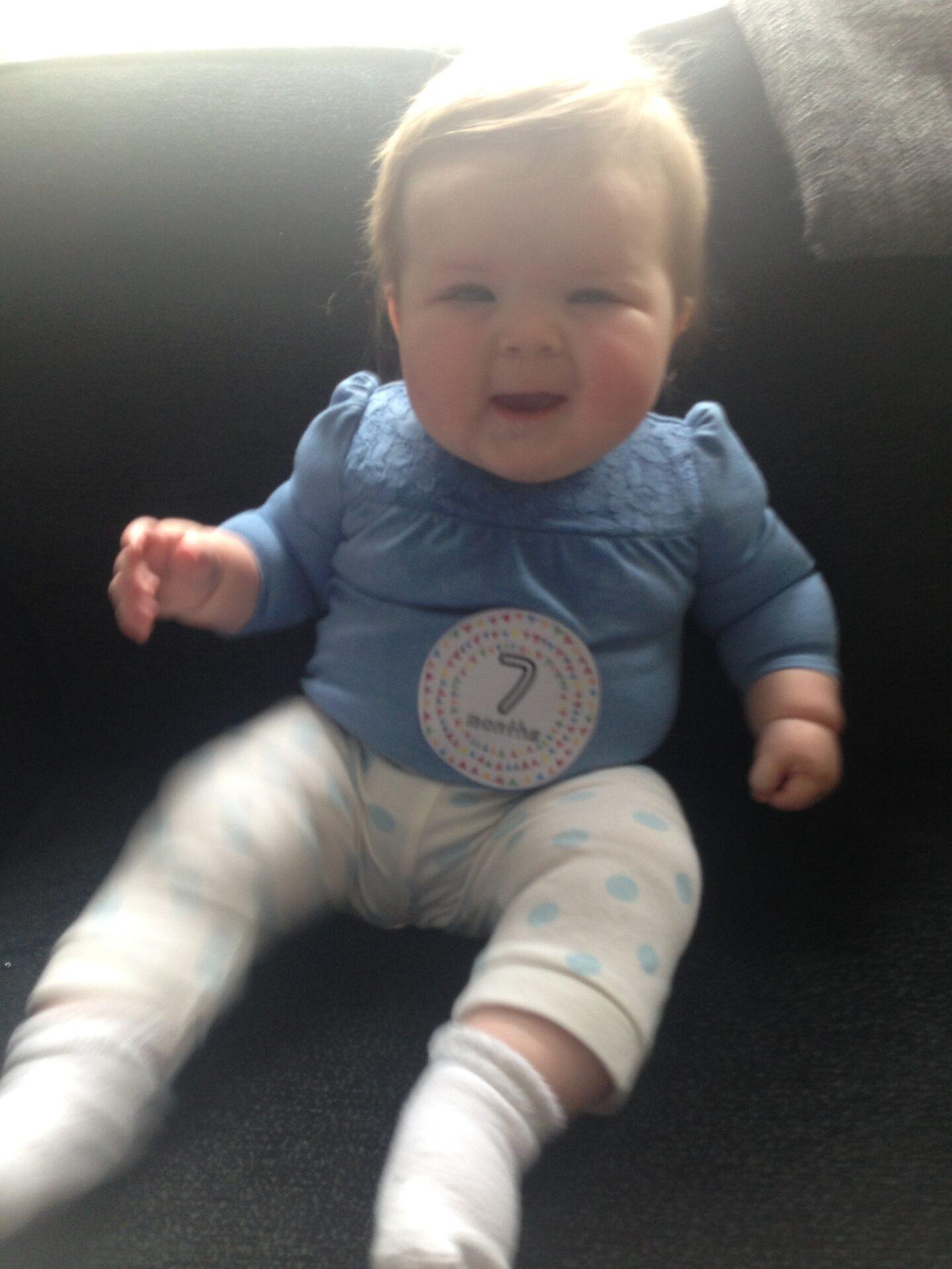 Dear Lottie Bella: Seven months old