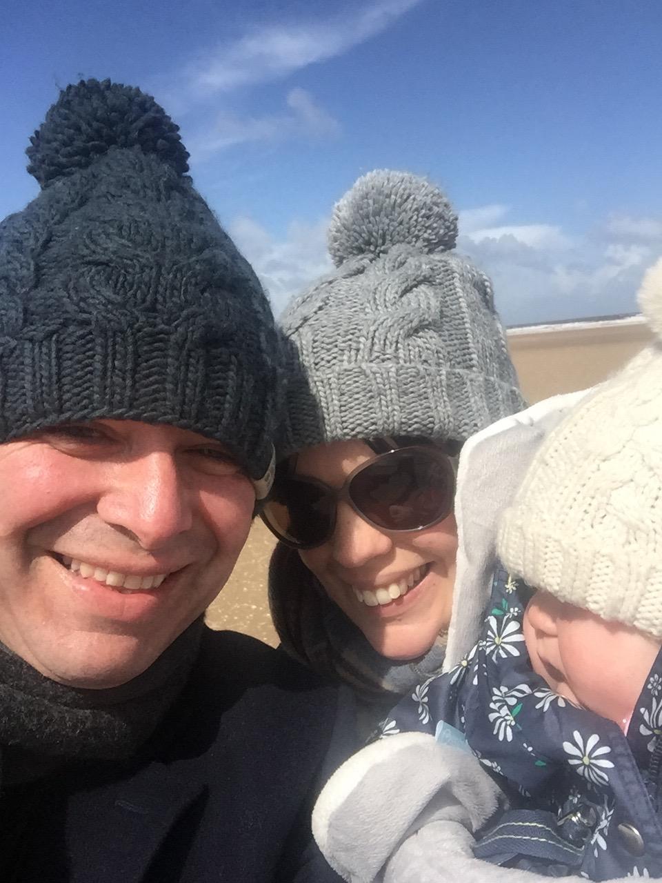 Family photo Holkham beach