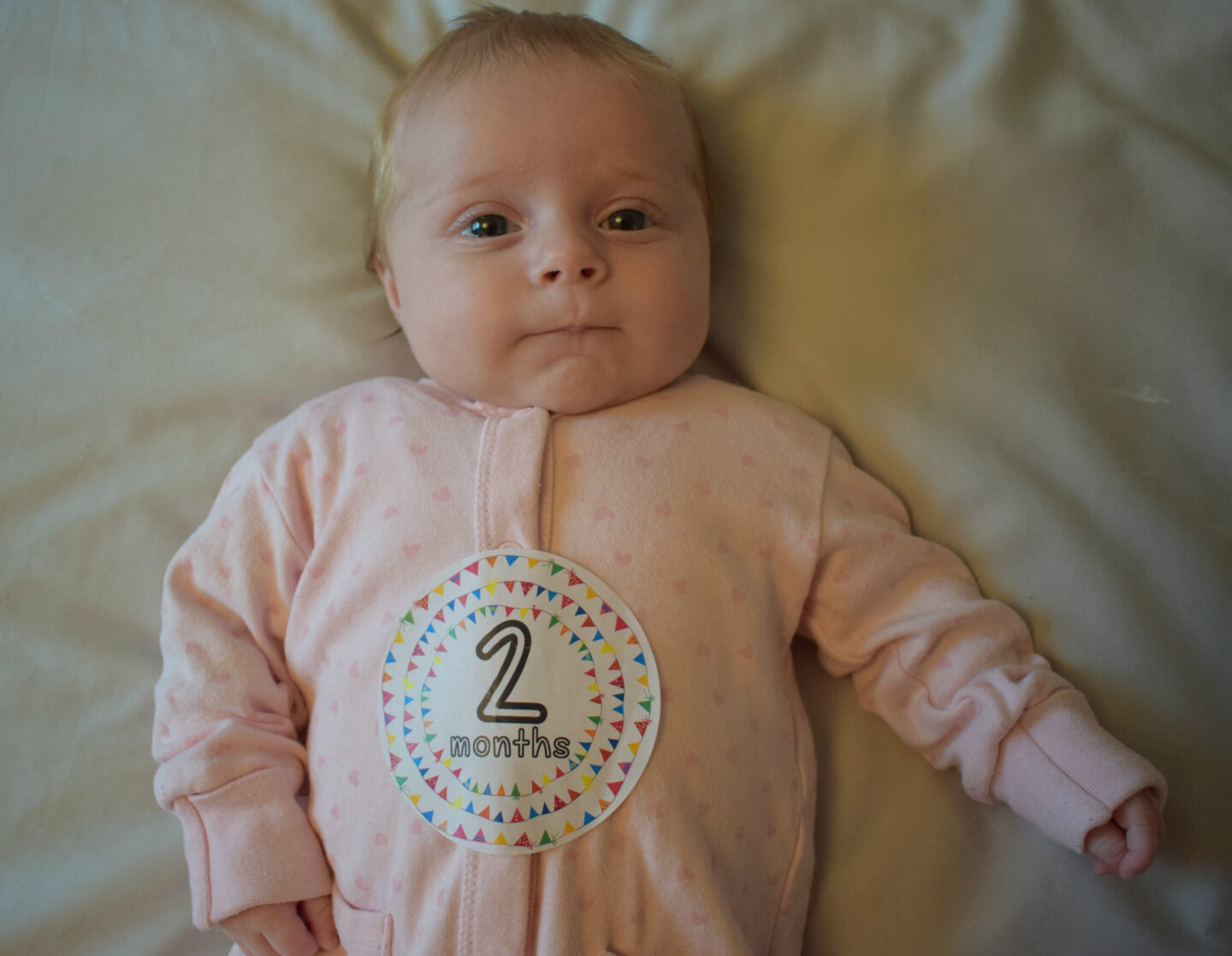 Dear Frankie Mabel: Two months old