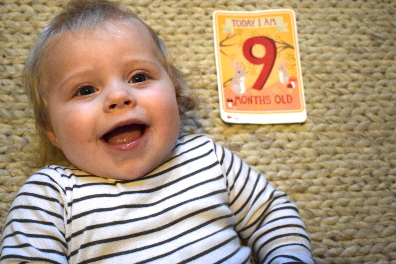 Dear Frankie Mabel: Nine months old