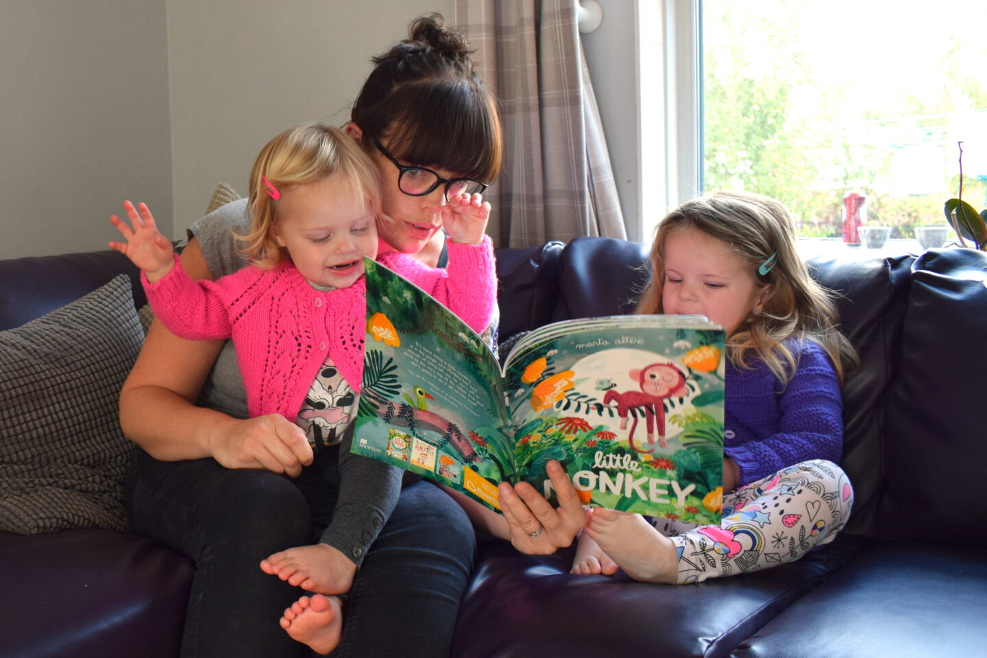 Making time to read with our girls and BookTrust