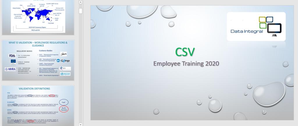 CSV Training 2020