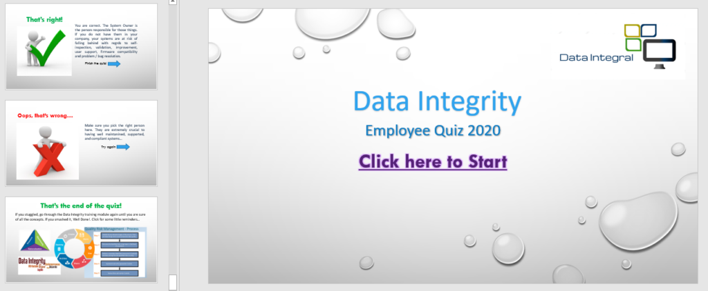 Our interactive quizes.