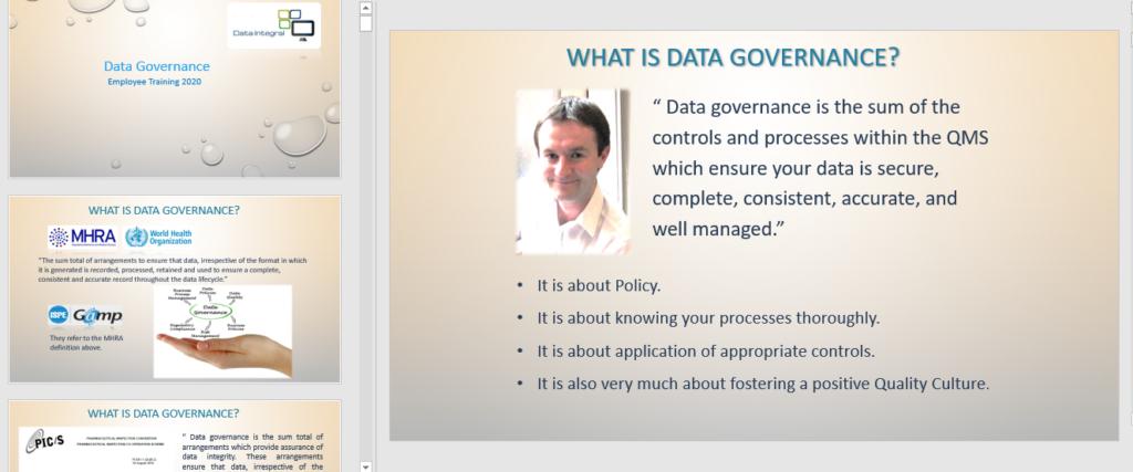 Data Governance Training 2020