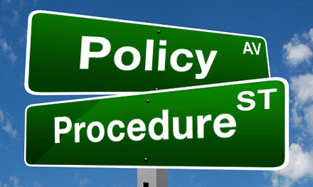 Policy Procedure Sign