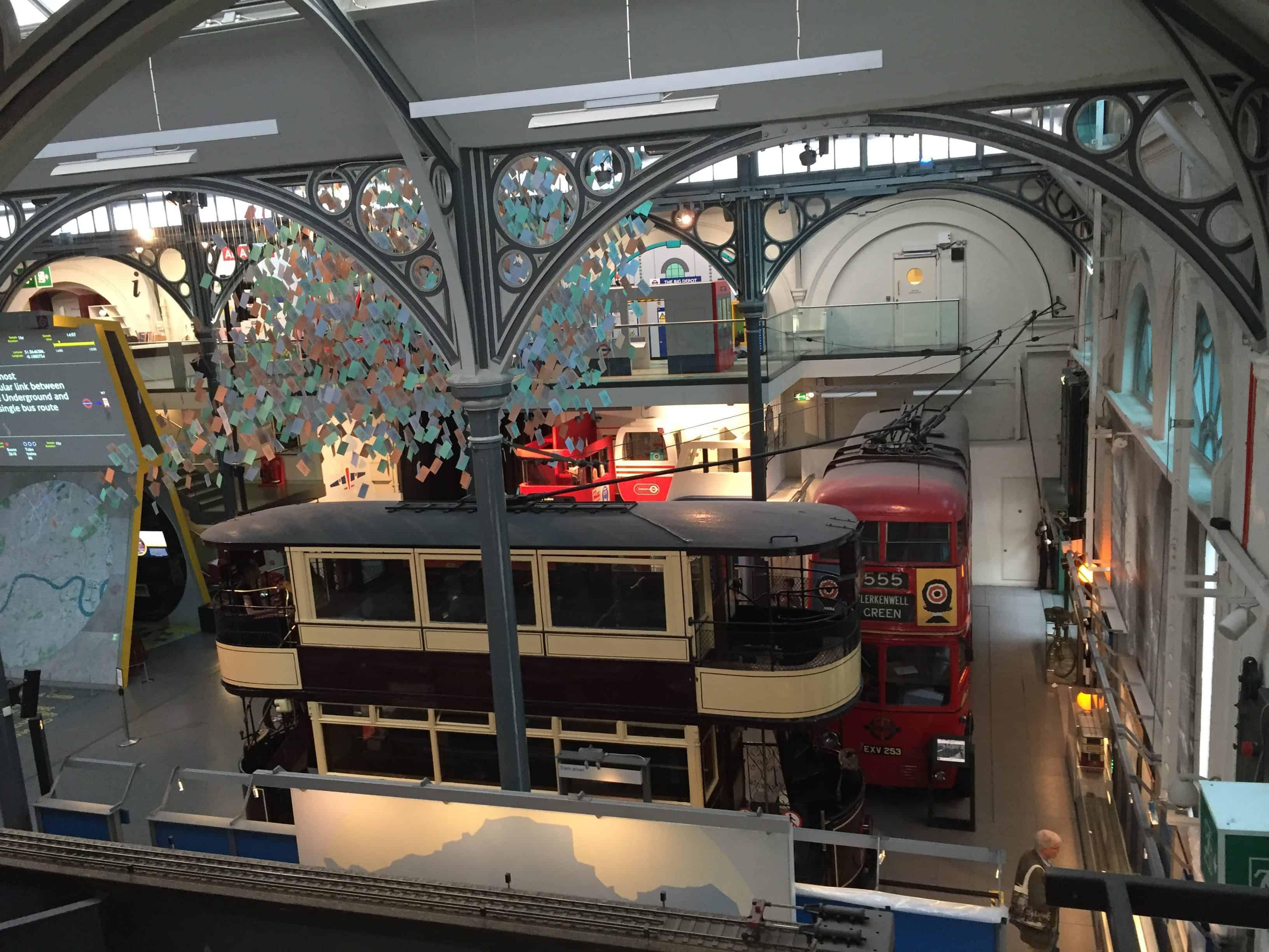 Interior do Museu do Transporte
