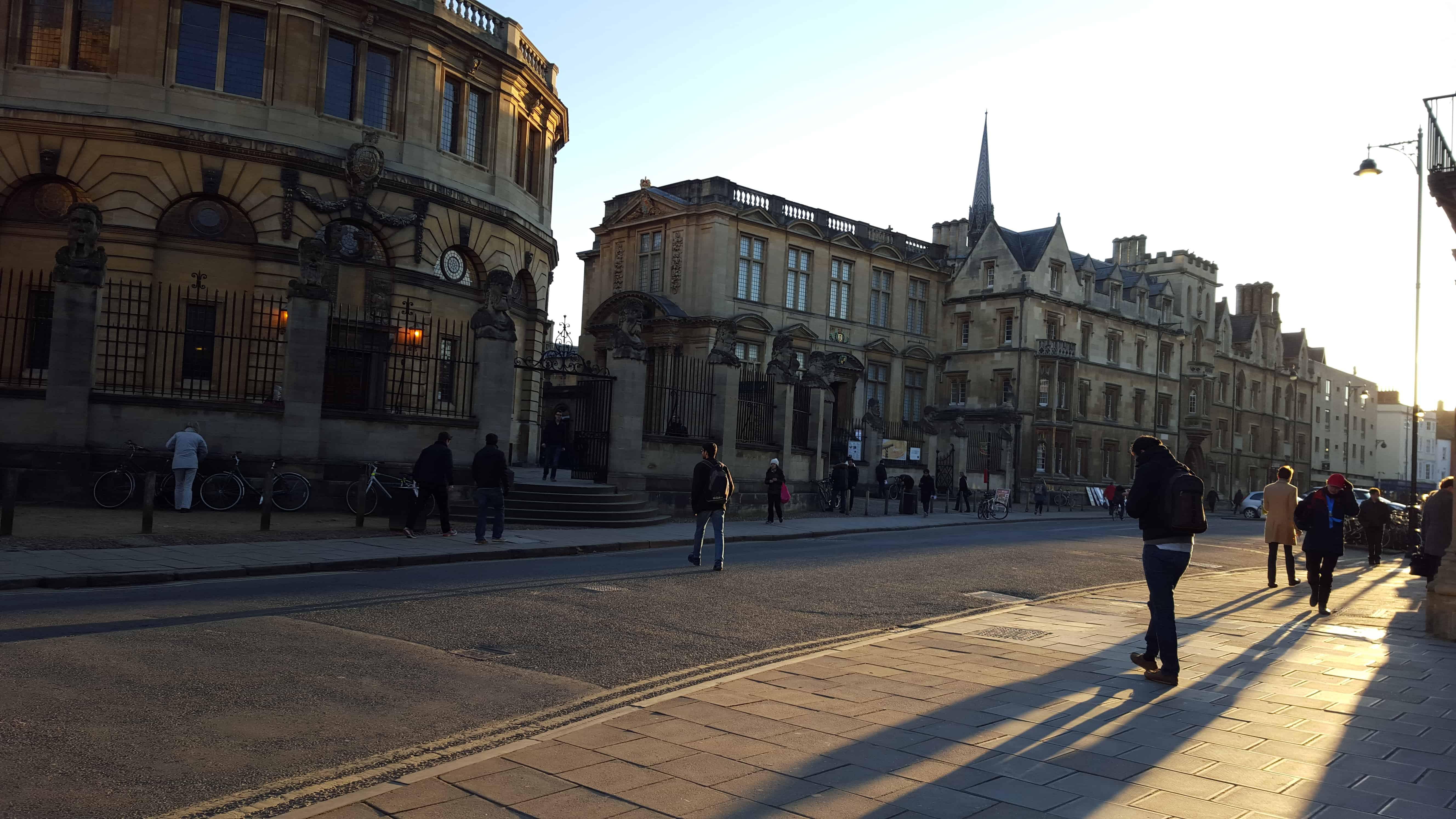 Rua em Oxford Inglaterra