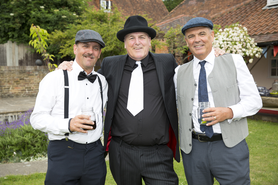 groom with best men at vintage wedding in Bromely, Kent