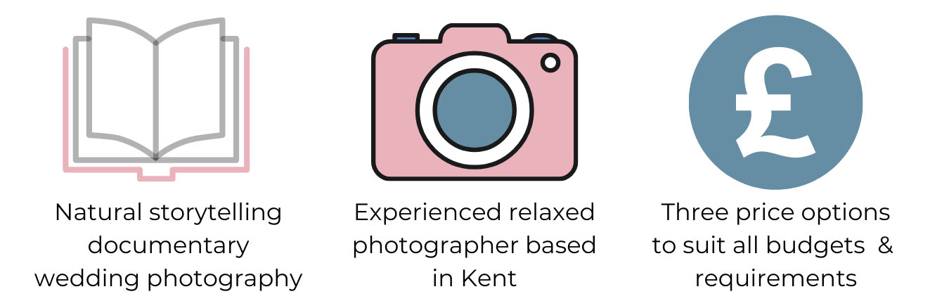 Kent based wedding photographer passionate about natural storytelling wedding photography.
