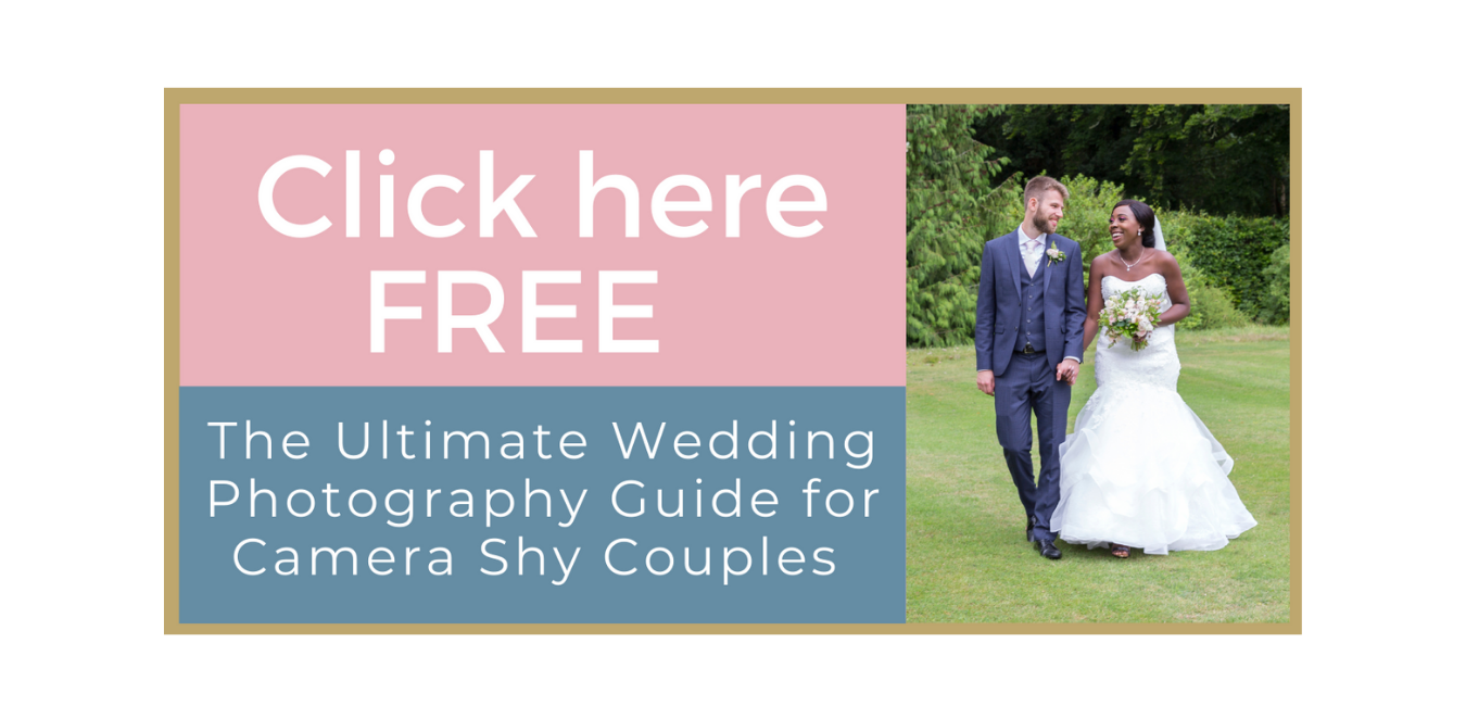 """Free Guide - Click here now to download, """"The Ultimate Wedding Photography Guide for Camera Shy Couples"""""""