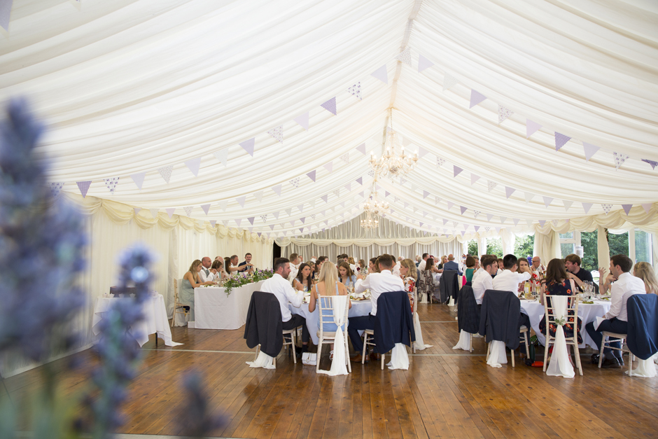 Wedding marquee at Nettlestead Place - Kent wedding venue in Maidstone, Kent.