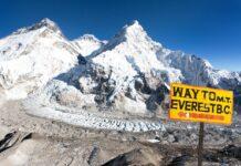 Mt Everest sign