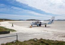 Barra beach landing