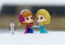 Footsteps of frozen