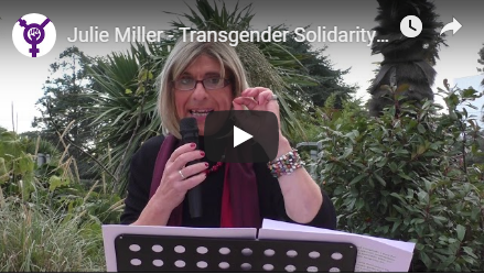 Julie Miller - Anti-Trans Erasure Speech video on Youtube