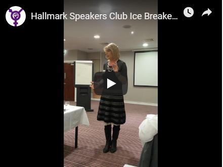 Julie Miller - Toastmasters International Ice breaker Speech Video Youtube