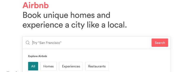 airbnb search bar