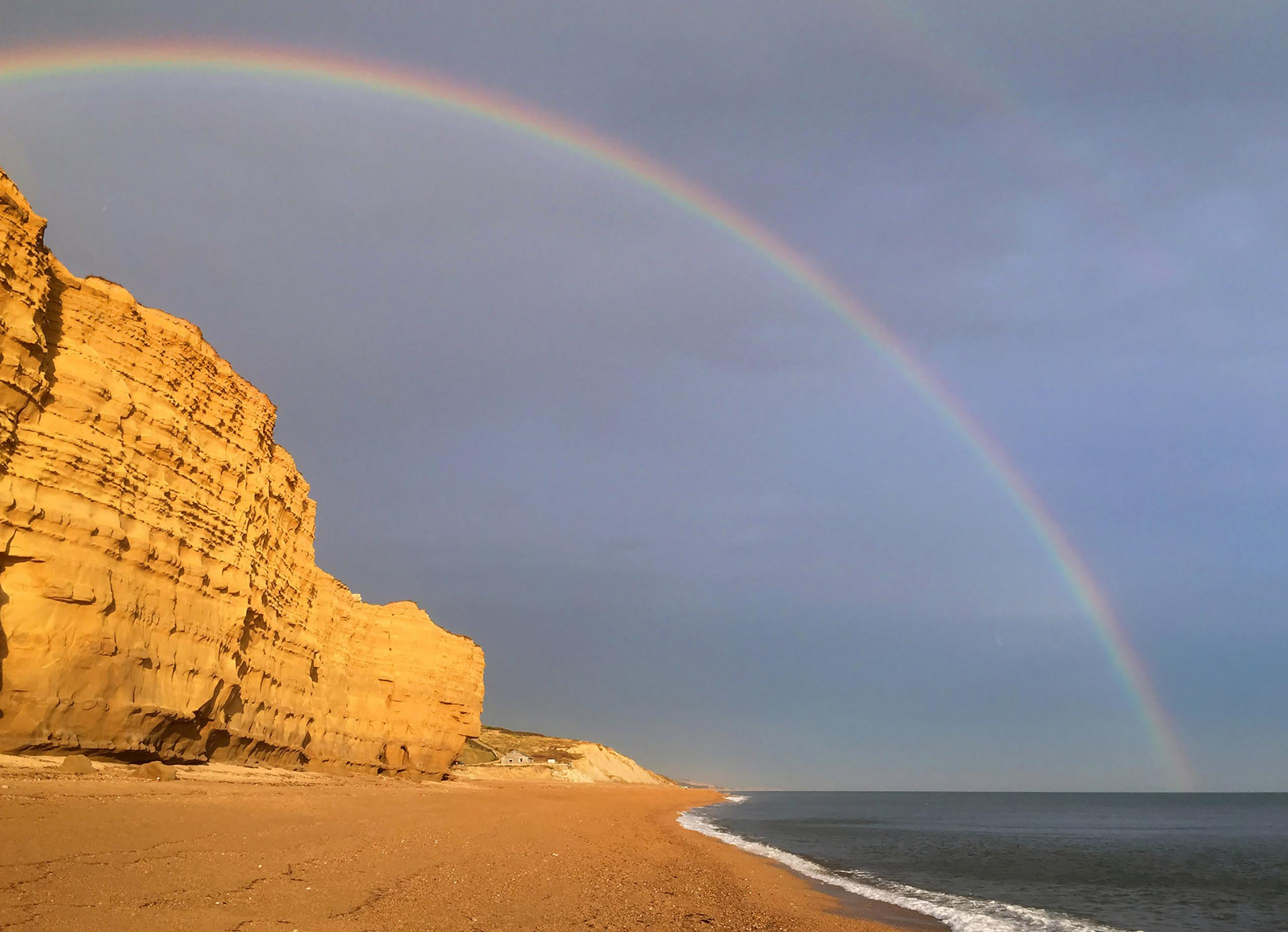 West Bay rainbow - Dorset photography