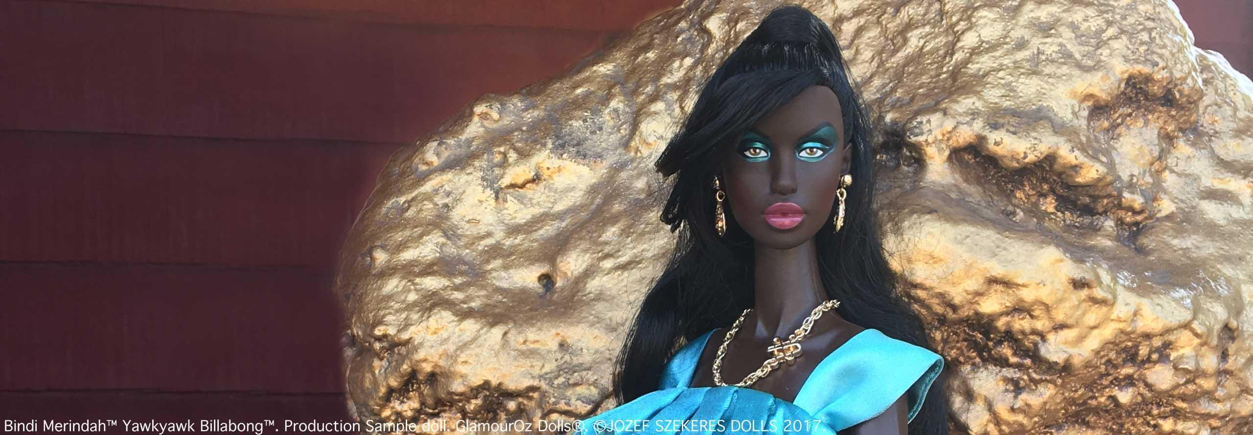 GODs Slider 1.Bindi Merindah™ Yawkyawk Billabong™. Production Sample doll.
