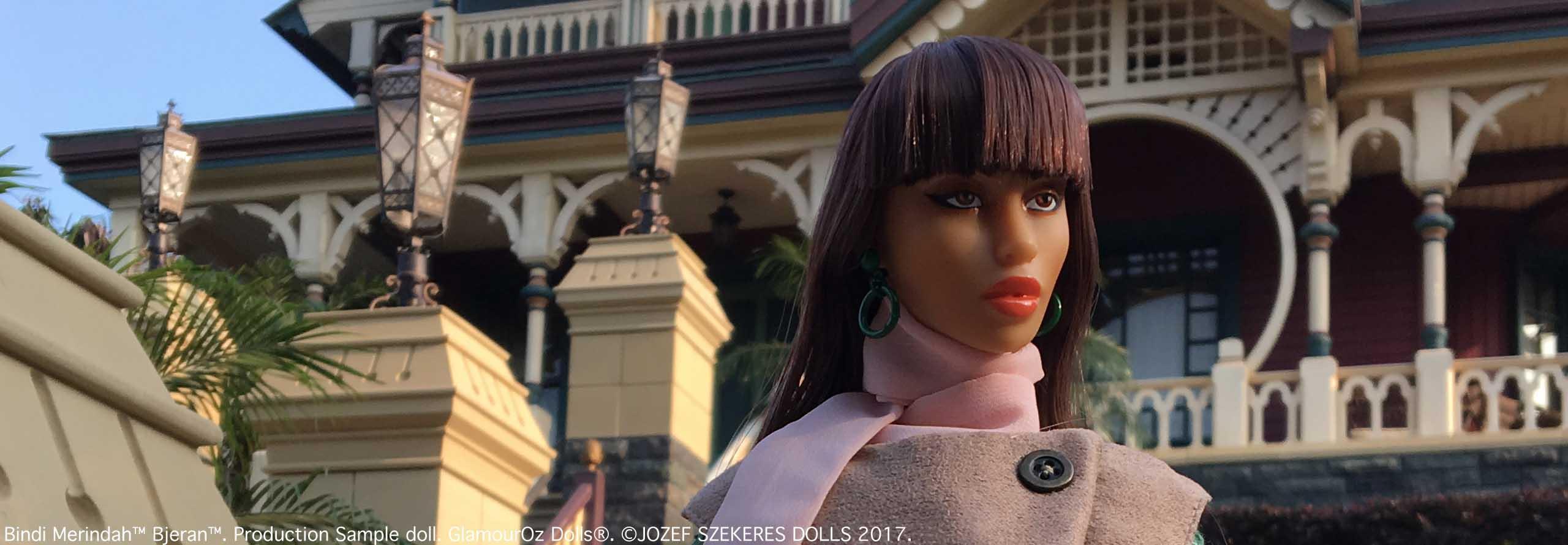 GODs Slider 10.Bindi Merindah™ Bjeran™. Production Sample doll. GlamourOz Doll