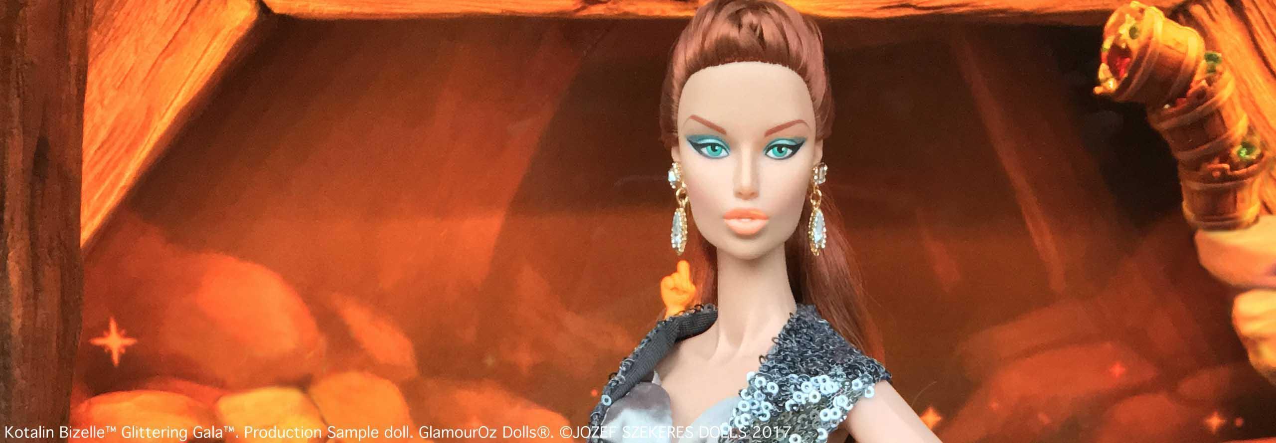 GODs Slider 6.Kotalin Bizelle™ Glittering Gala™. Production Sample doll.