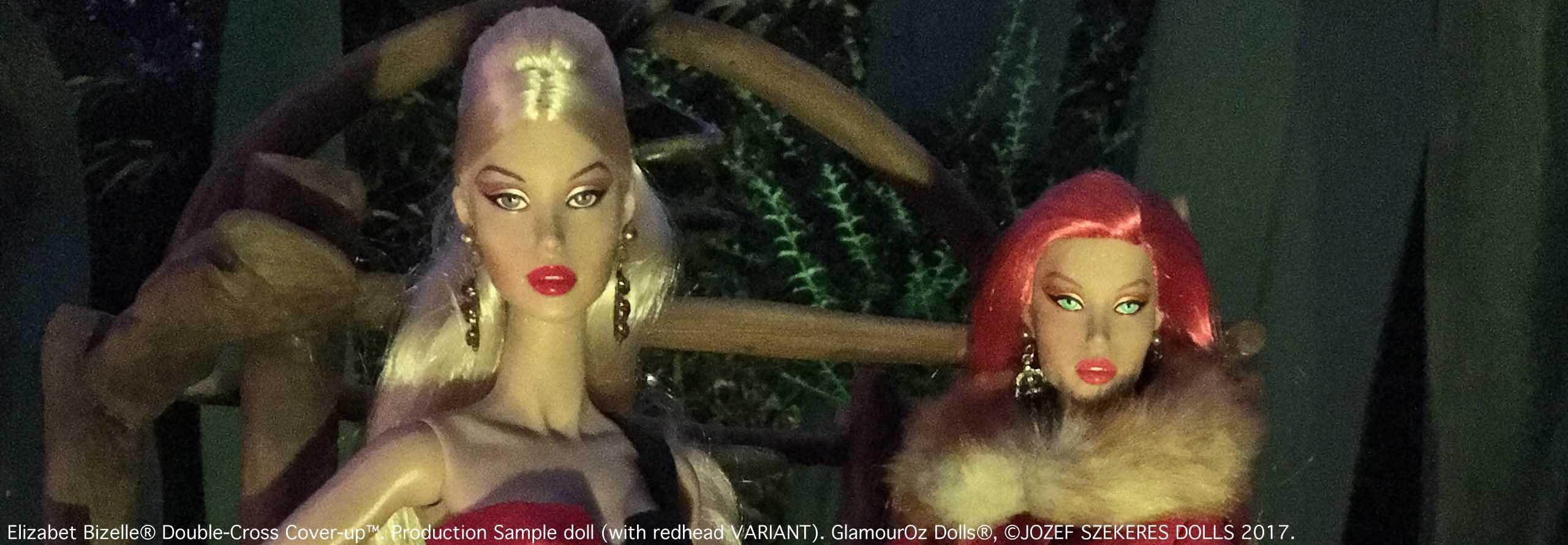GODs Slider 8.Elizabet Bizelle® Double-Cross Cover-Up™.Production Sample doll