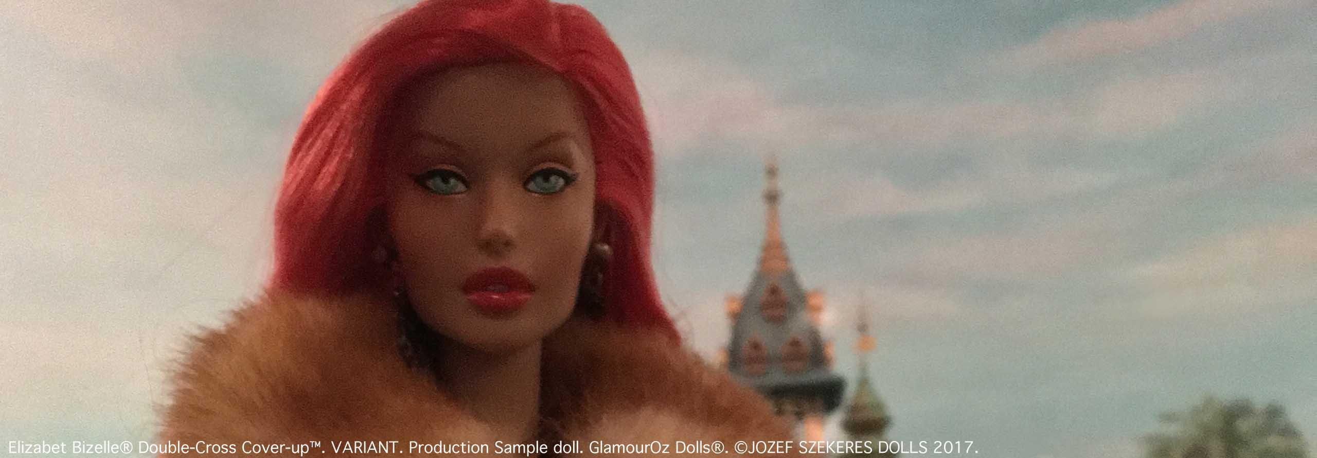GODs Slider 9.Elizabet Bizelle® Double-Cross Cover-Up™.Production Sample doll
