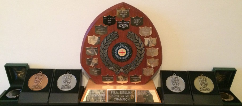 The U23 English Fell Running Championship trophy taking pride of place