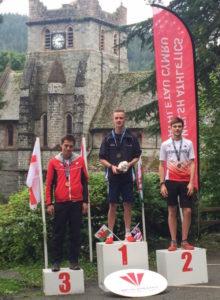 U23 podium at the British Mountain Running Championships