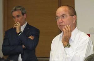 סיידמן ופרופ' איזי בורוביץ' באקדמית תל אביב-יפו