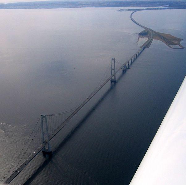 הגשר המזרחי, דנמרק - Danish Great Belt Rail Link, צילום: ויקיפדיה