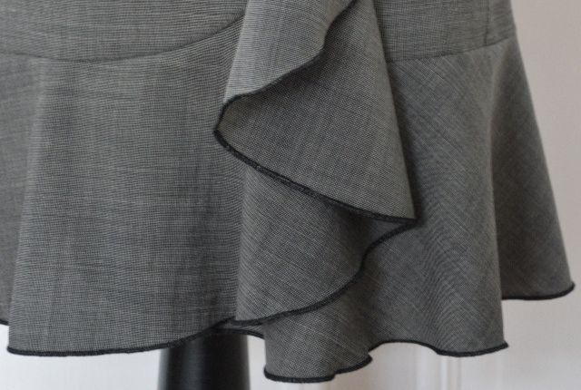 Menswear Inspired: Skirt with Flounce made with Suit Fabric