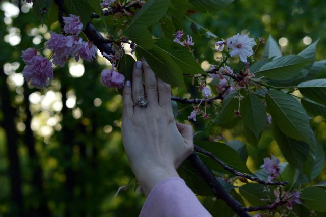 Kirschblütenrosa – Grande Arche Mantel