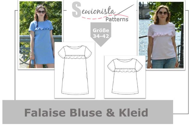 Sewionista Patterns Schnittmuster Falaise Bluse & Kleid mit Rüsche ... Sewionista.com ... Nähen ... Slow Fashion ... DIY