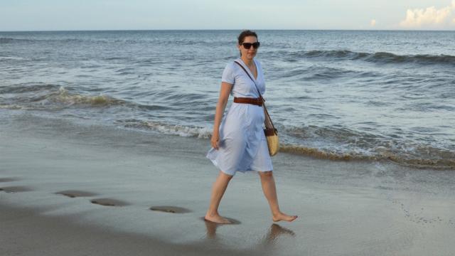 Summer at the Sea – Burdastyle Wrap Dress