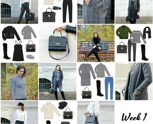 Capsule Wardrobe Winter 2019 – Week 1