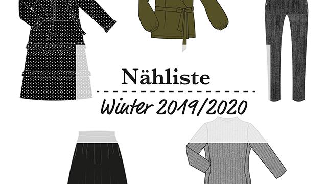 Sewing List – Winter Capsule Wardrobe 2019/2020