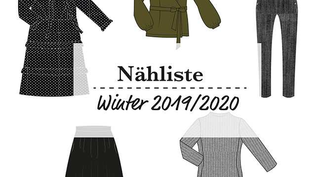 Sewing List – Winter Capsule Wardrobe 2019/2020