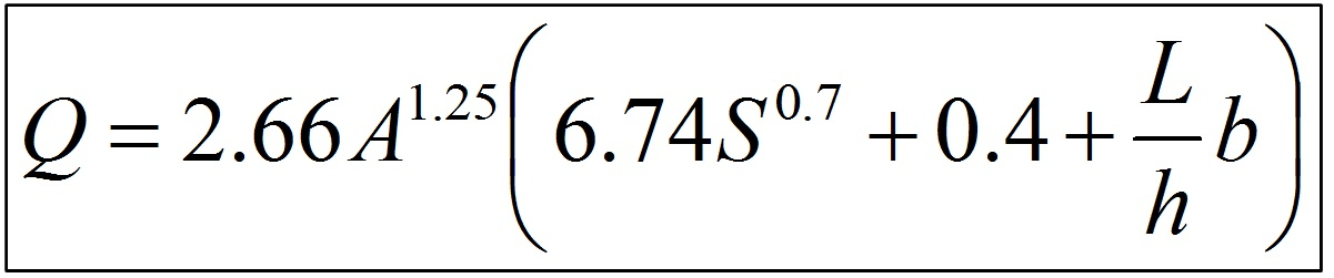 Linear Drainage Design Formula