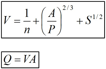 Manning Formula for Open Channels or Pipes