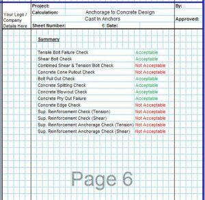 Anchorage to Concrete Design Spreadsheet6