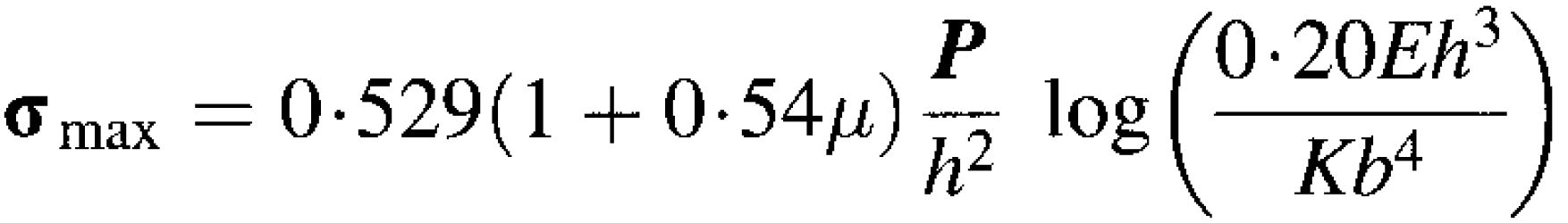 Westergaard - Edge Load Equation (Kelly)